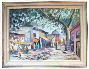 Mubin Singed Middle Eastern Street Painting