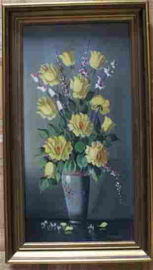 R Kramer Signed Oil Painting Mid Century Still Life