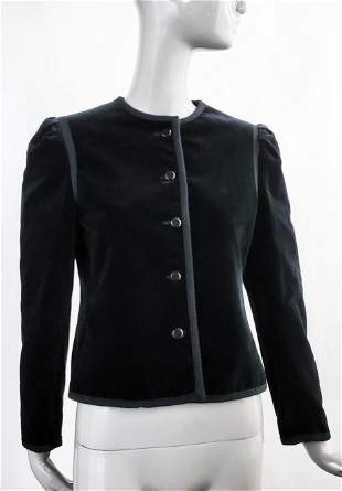 Yves Saint Laurent Black Velvet Jacket, ca. 1970s