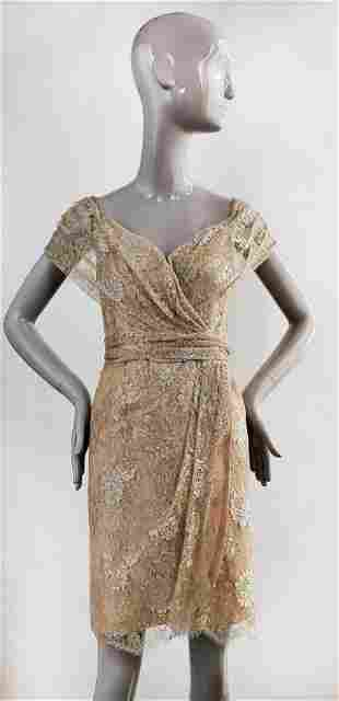 John Anthony Couture Lace Dress, c.1990s