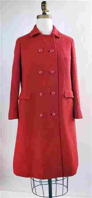 Shagmoor Red Wool Tweed Coat, ca. 1960s