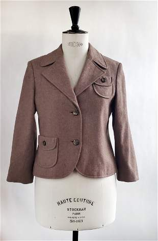Pierre Cardin Brown Wool Jacket, ca. 1970s
