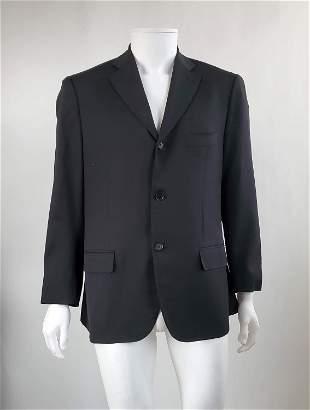 Isaia Napoli Black Mens Blazer Jacket, Sz 52IT