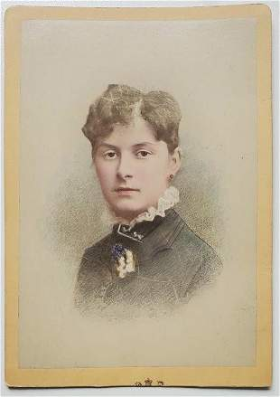 Byrne & Co. Hand Colored Photo Portrait of a Lady
