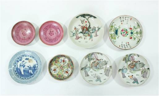 8 Antique Chinese Porcelain Small Plates