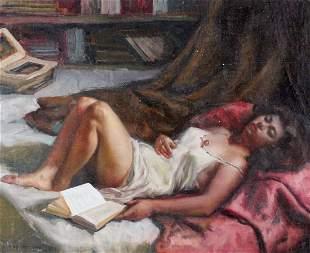 Amadeo Freixas Vivo (Spanish, born 1912) Oil Painting
