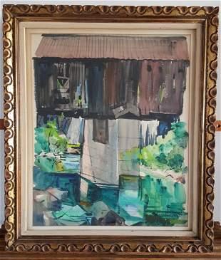 Zoltan Hecht (American, 1890-1968), 'Landscape'