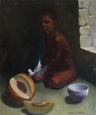 Jaime de Jaraiz (1934-2007) Orientalist Oil Painting