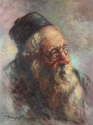 Denys Rubio 'Portrait of a Middle Eastern Man'