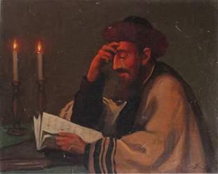Marian Stronski (Polish 1896-1986) Judaica, Rabbi