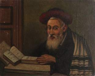Marian Stronski (Polish 1896-1986) Rabbi Portrait