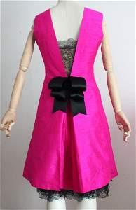 Balenciaga by Chez Ninon Couture Pink Silk & Lace, 1966