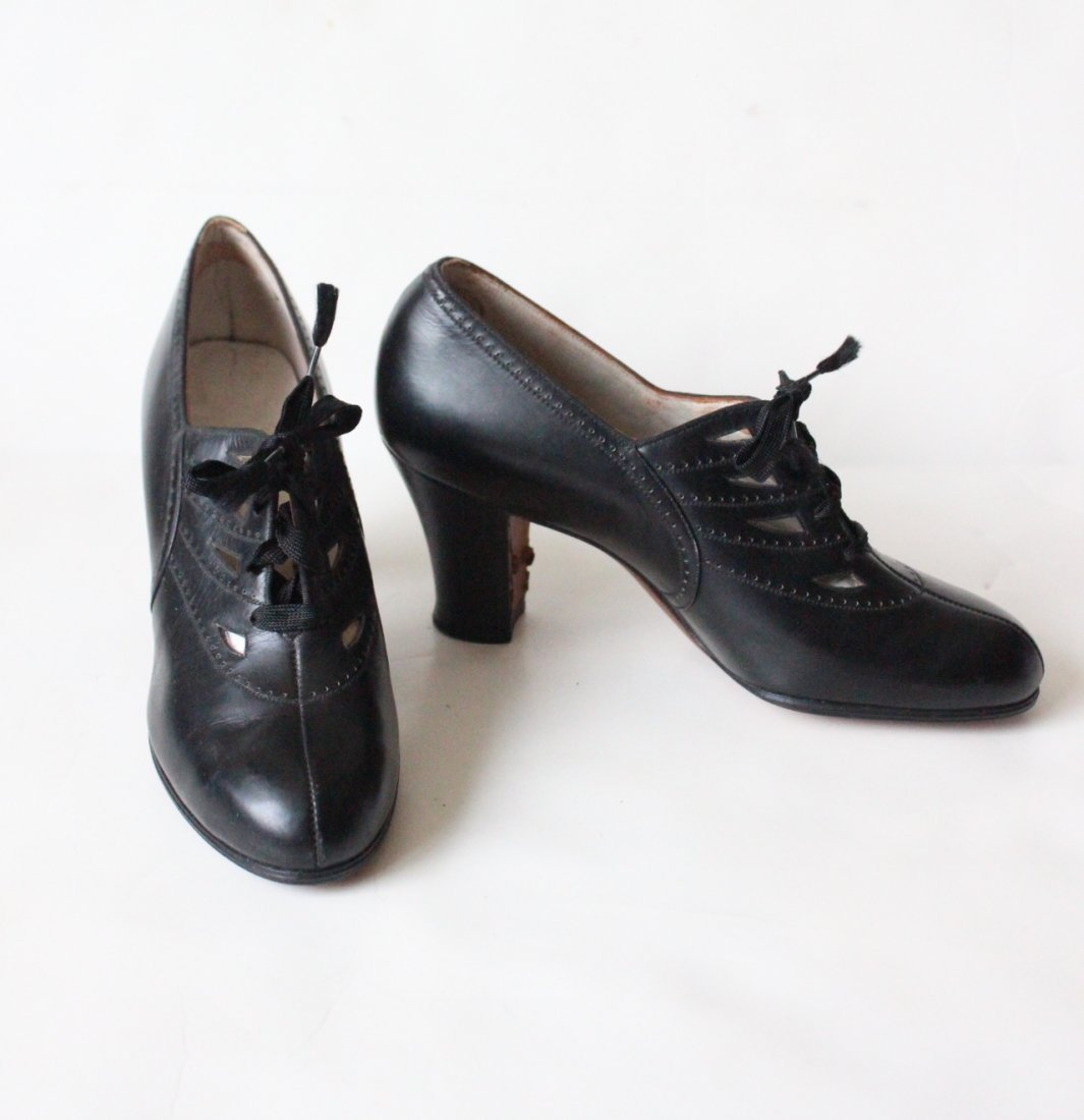 Rare 1910-1920's Ladies Leather Shoes, Never Worn
