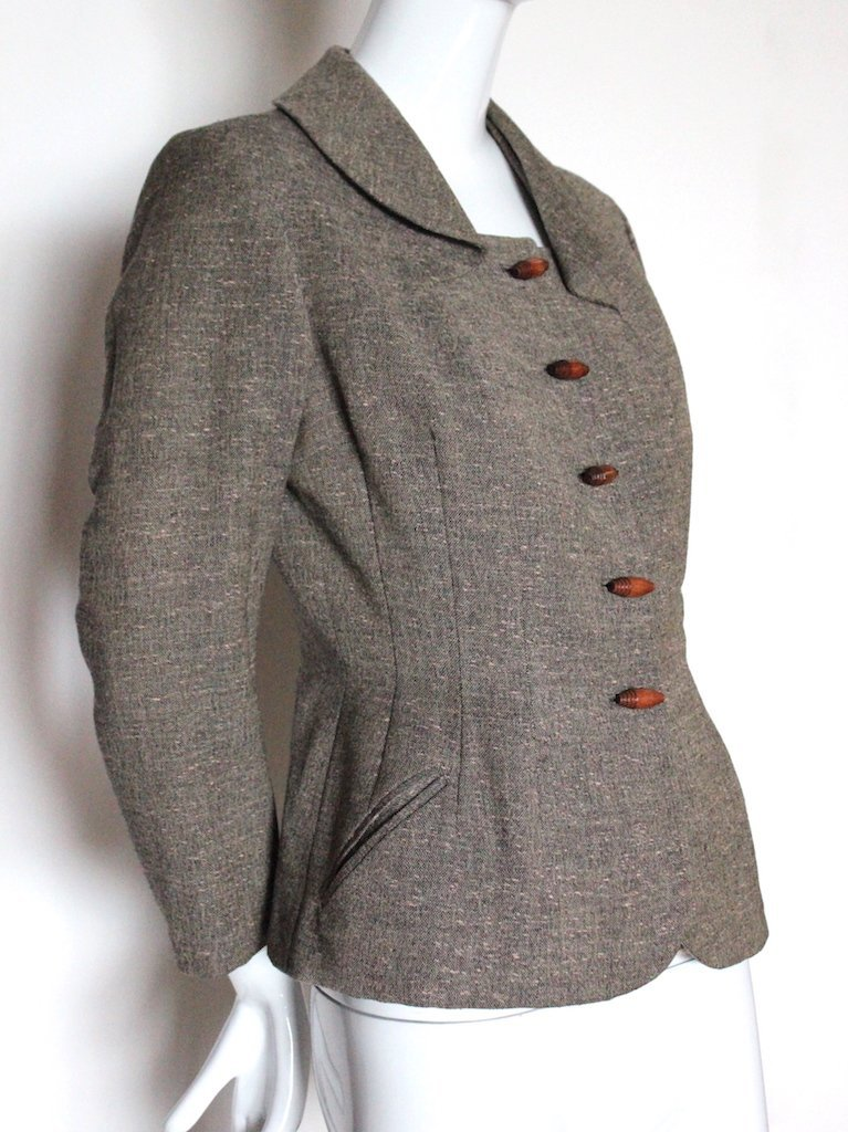 Sybil Connolly Haute Couture Wool Tweed Jacket,c.1950's