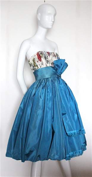 Jacques Fath Haute Couture Cocktail Dress,c.1950's