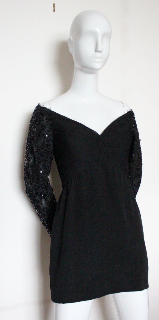 Michael Novarese Black Mini Evening Dress, 1990's