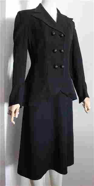 Klingrite Fashions Black Suit, c. mid1940's