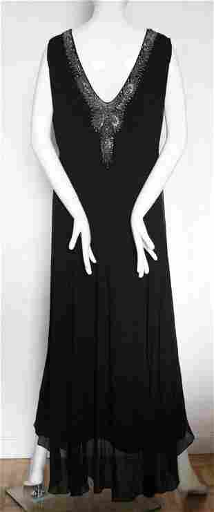'Norman' English Couture Beaded Silk Dress, c.1930's