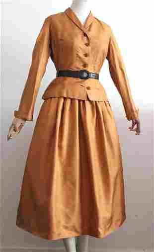 Rare Christian Dior New York Silk Twill Suit , c.1948