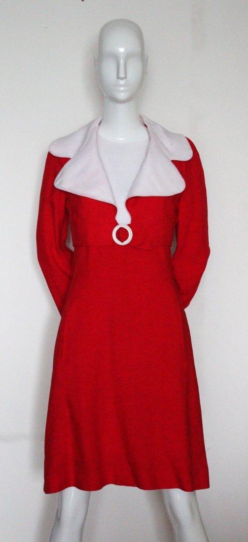 Pauline Trigere Color Block Couture Linen, c.1960's