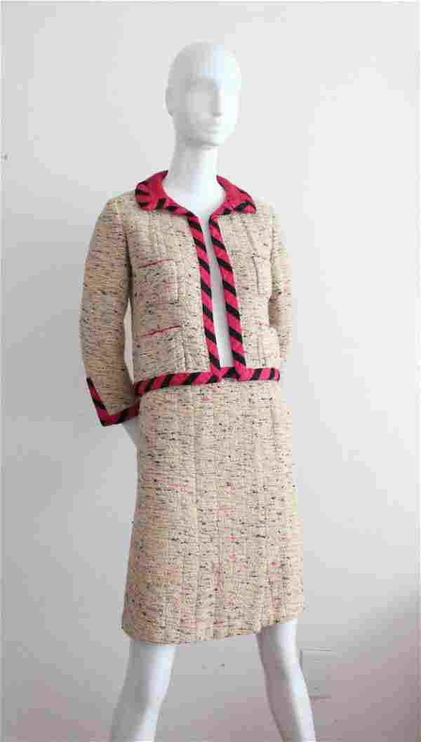 A Fine Chanel Haute Couture Tweed Skirt Suit, 1962