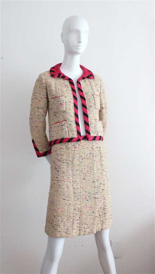 b59e1a186cd A Fine Chanel Haute Couture Tweed Skirt Suit