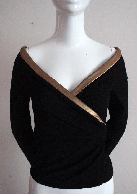 Donna Karan Collection Black Wrap Blouse, F/W 2006