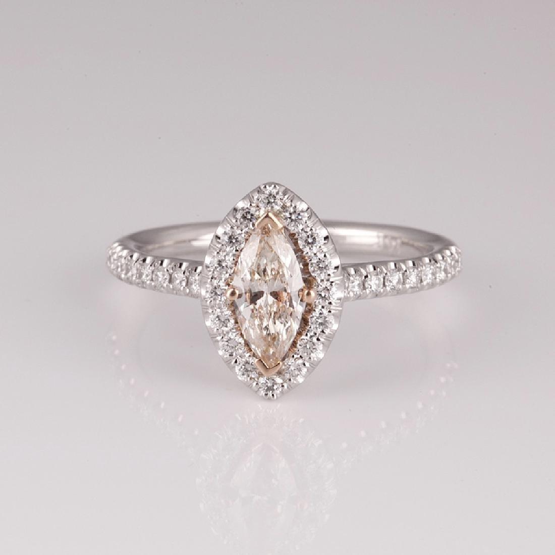 APP: 8.3k 14 kt. Two Tone Gold, 1.14CT Diamond Ring (NG