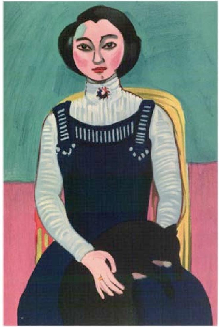 Henri Matisse ''''095 Marguerite Matisse, Girl With