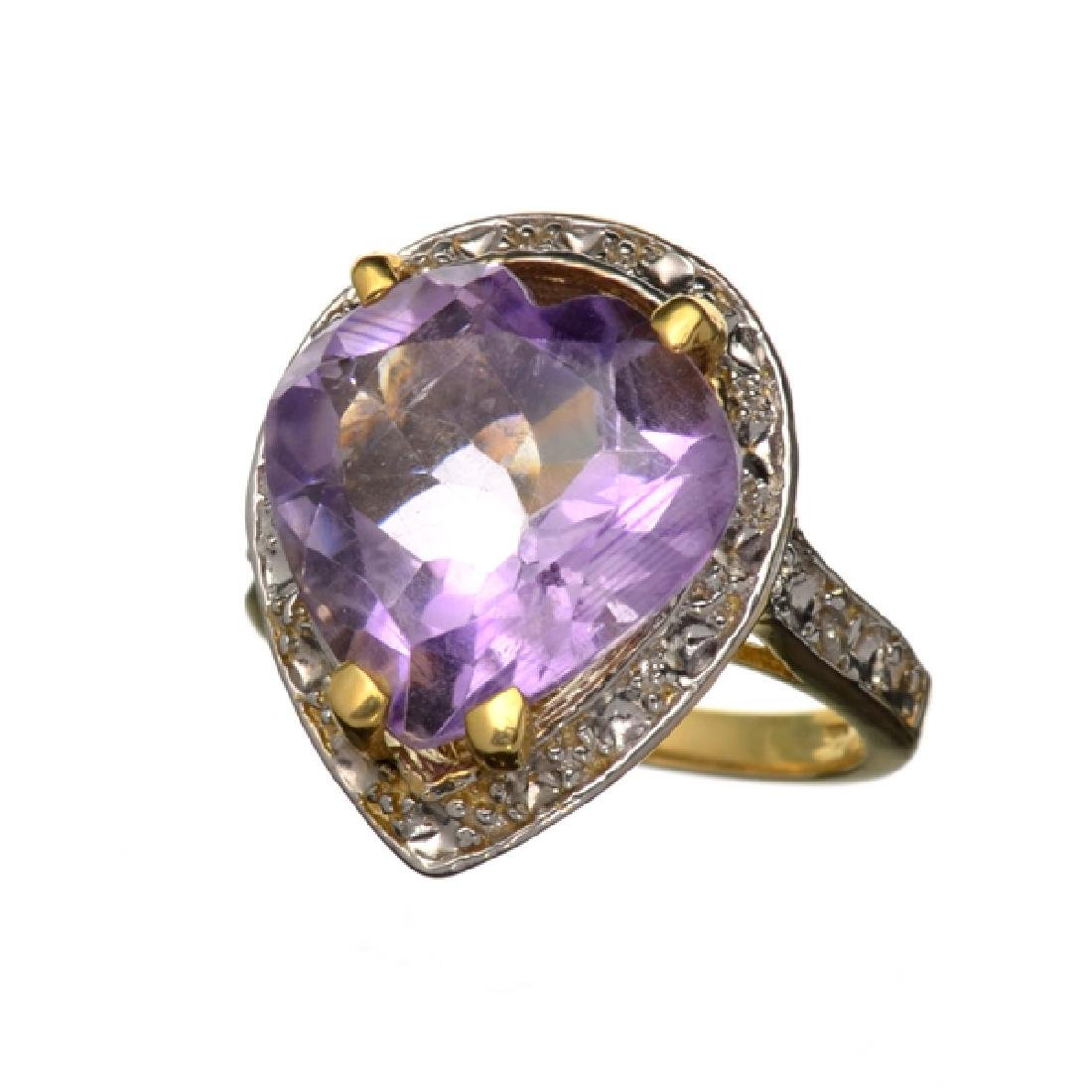 APP: 2.9k 14 kt. Yellow and White Gold, 9.46CT Amethyst