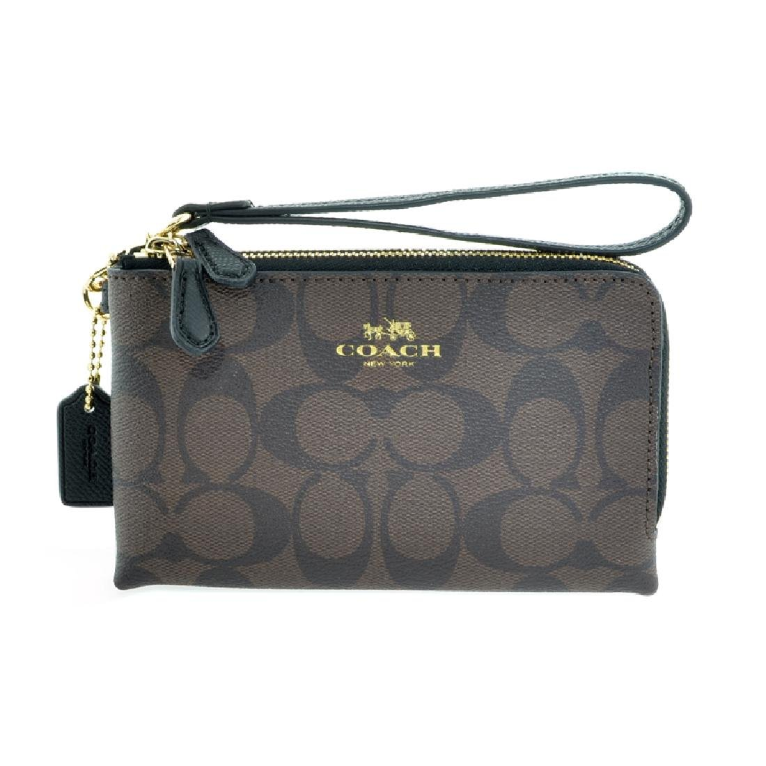 Brand New Authentic Coach Brown/Black Signature Double