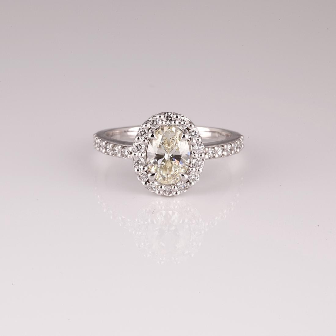 APP: 5.2k *14 kt. White Gold, 1.04CT Diamond Ring (NG