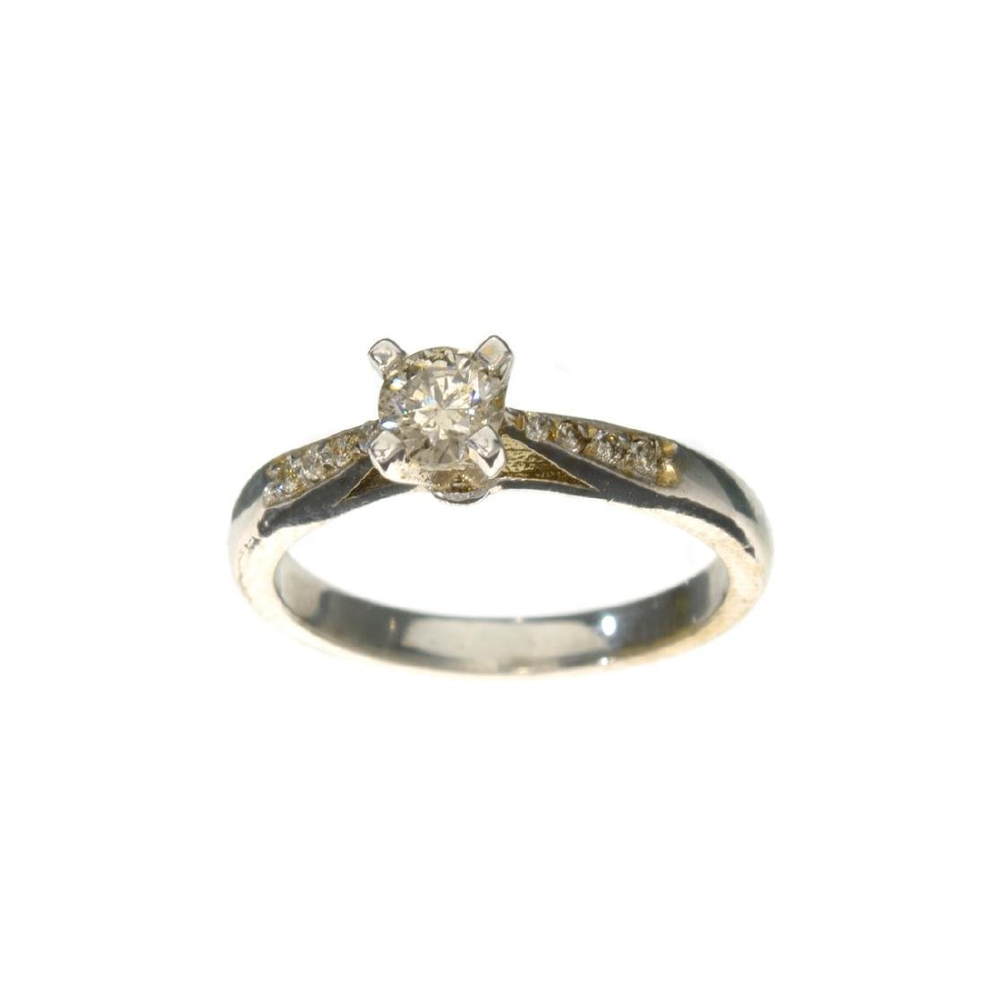 APP: 1.8k 14 kt. White Gold, 0.33CT Round Cut Diamond