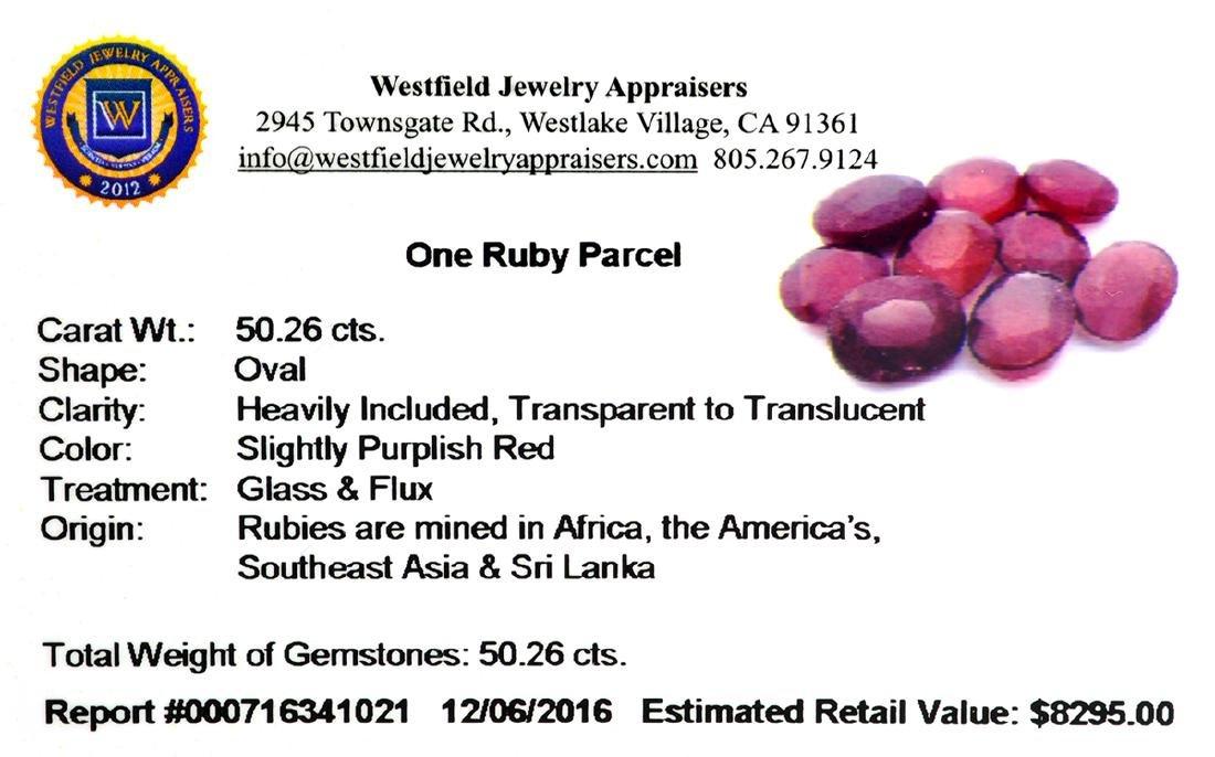 APP: 8.3k 50.26CT Oval Cut Ruby Parcel - 2