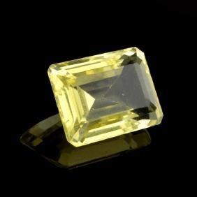 APP: 1.1k 12.50CT Emerald Cut Golden Citrine Quartz