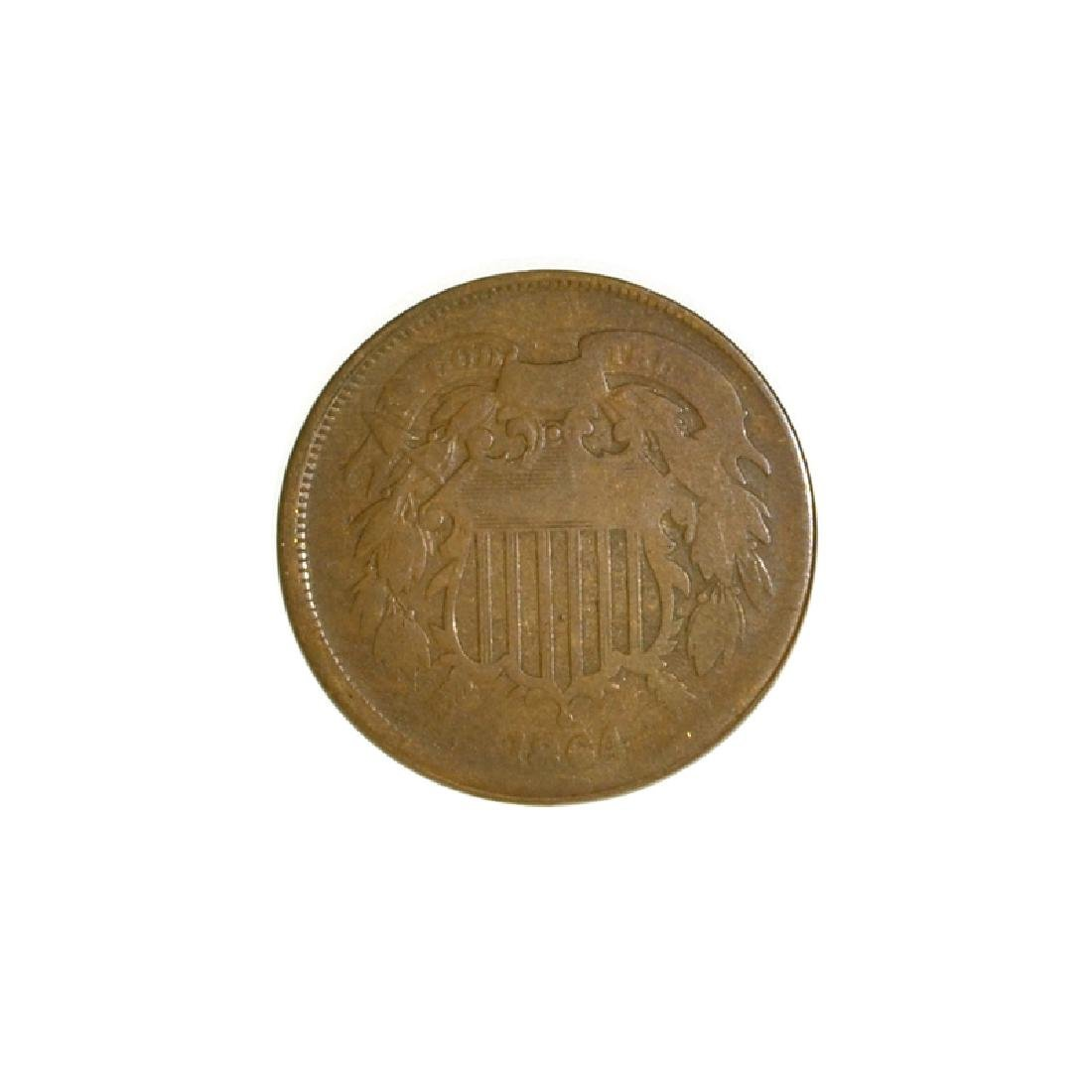 1864 Two-Cent Coin - 2