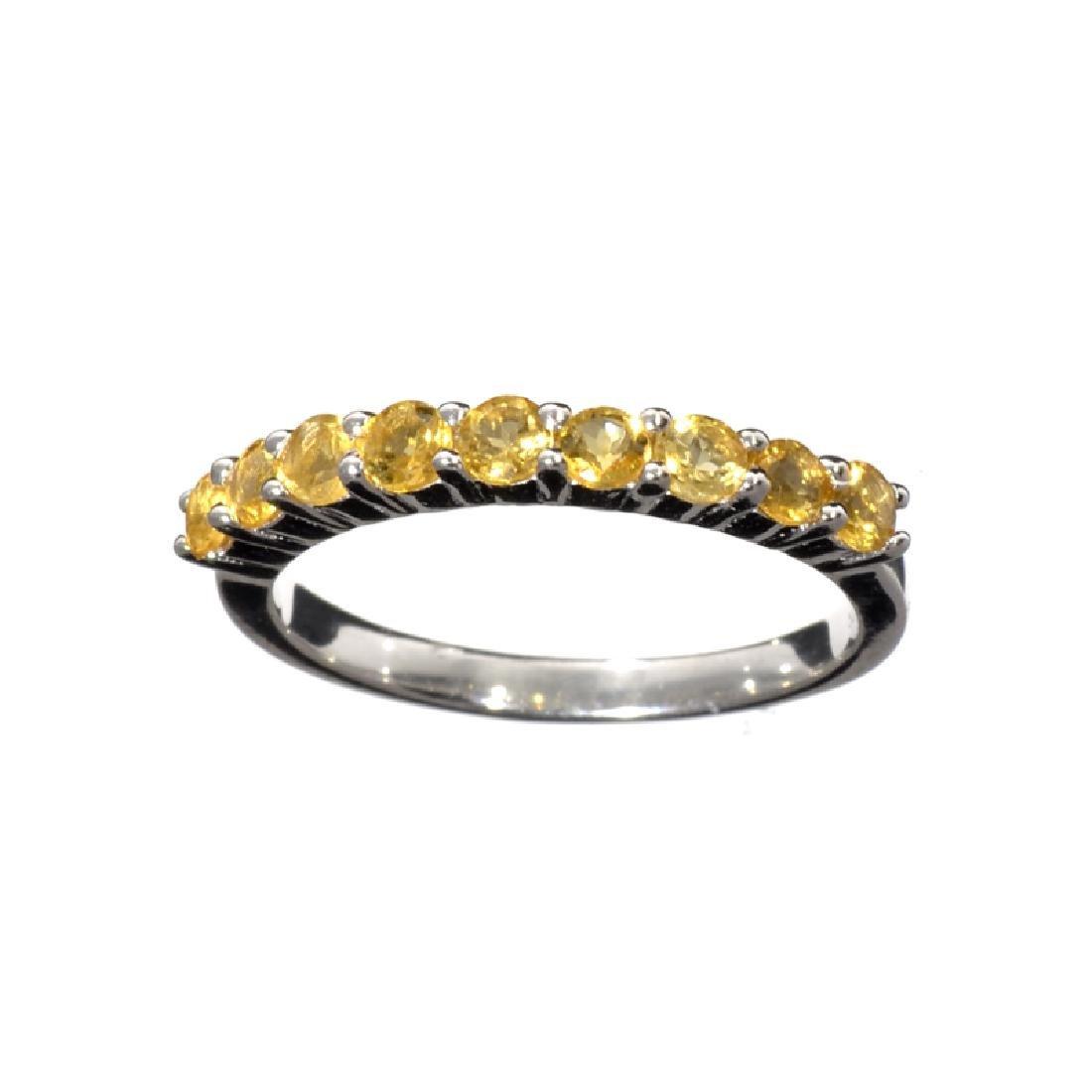 APP: 0.6k Fine Jewelry 0.65CT Round Cut And Citrine