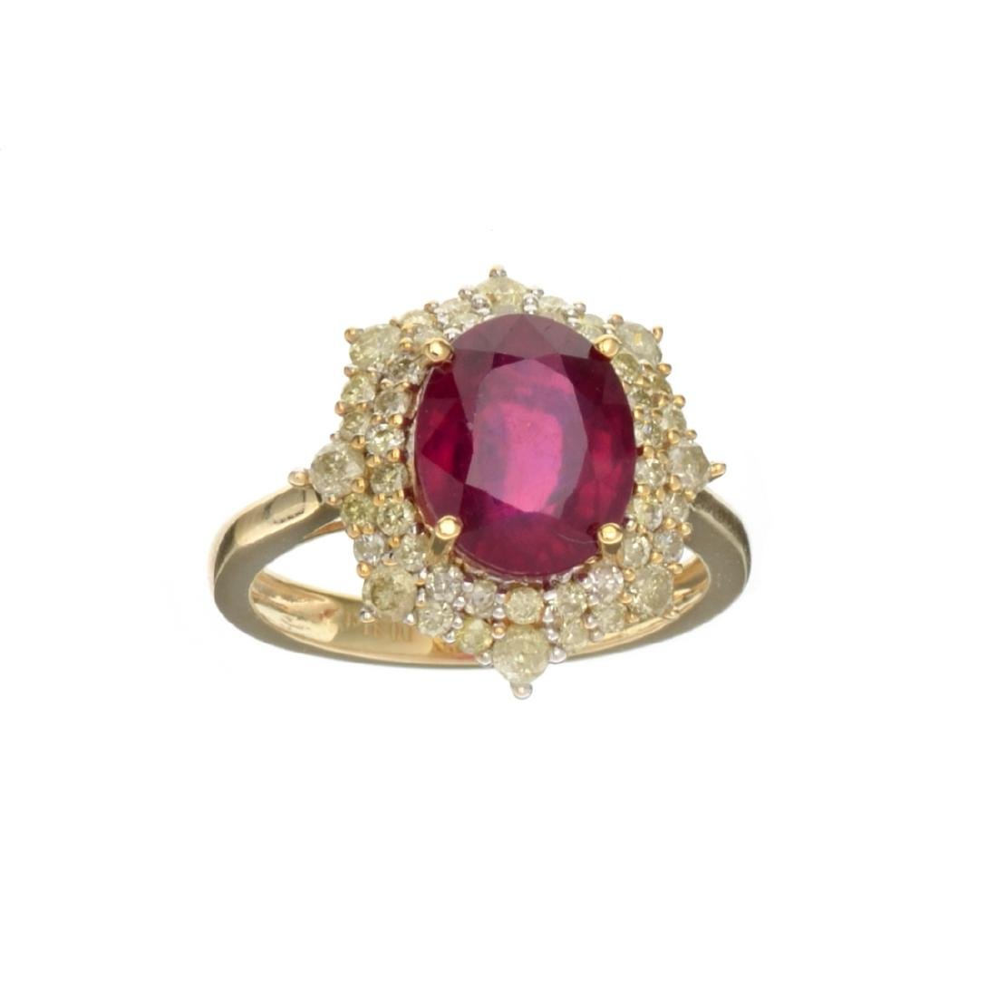 APP: 2.9k *Fine Jewelry, 14KT Gold, 4.05CT Oval/Mixed