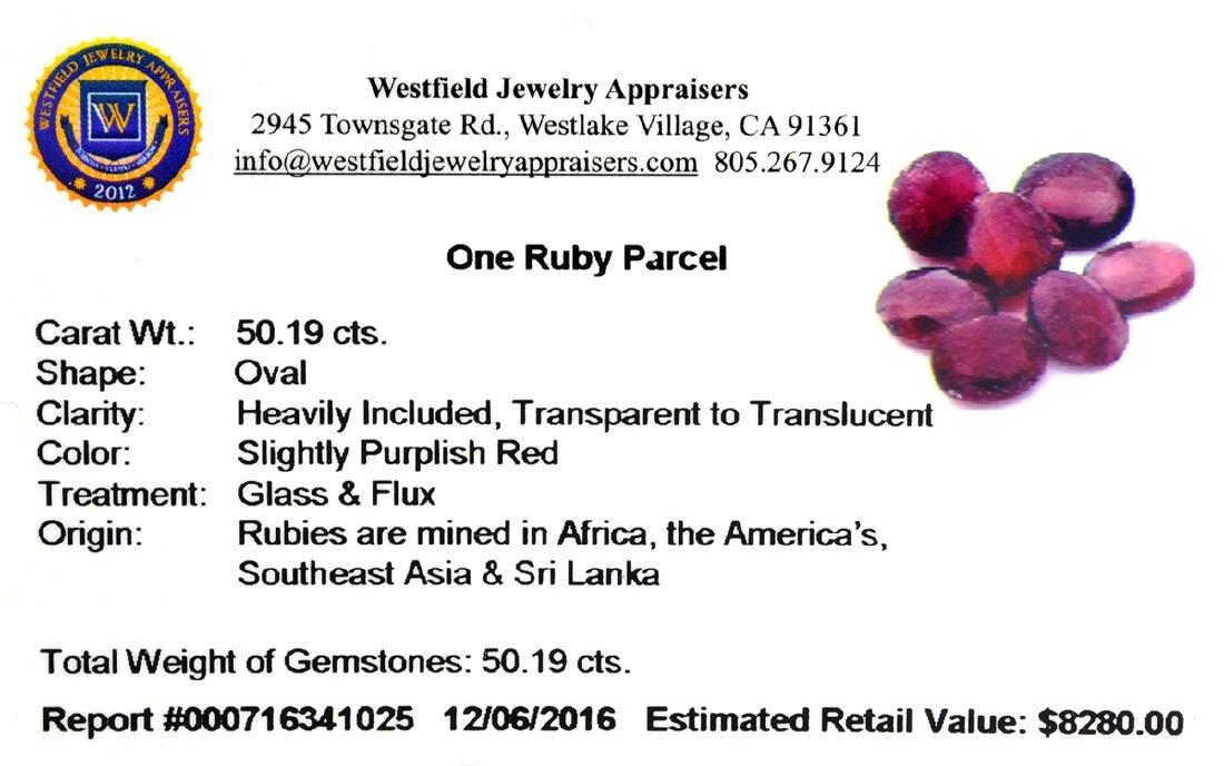 APP: 8.3k 50.19CT Oval Cut Ruby Parcel - 2