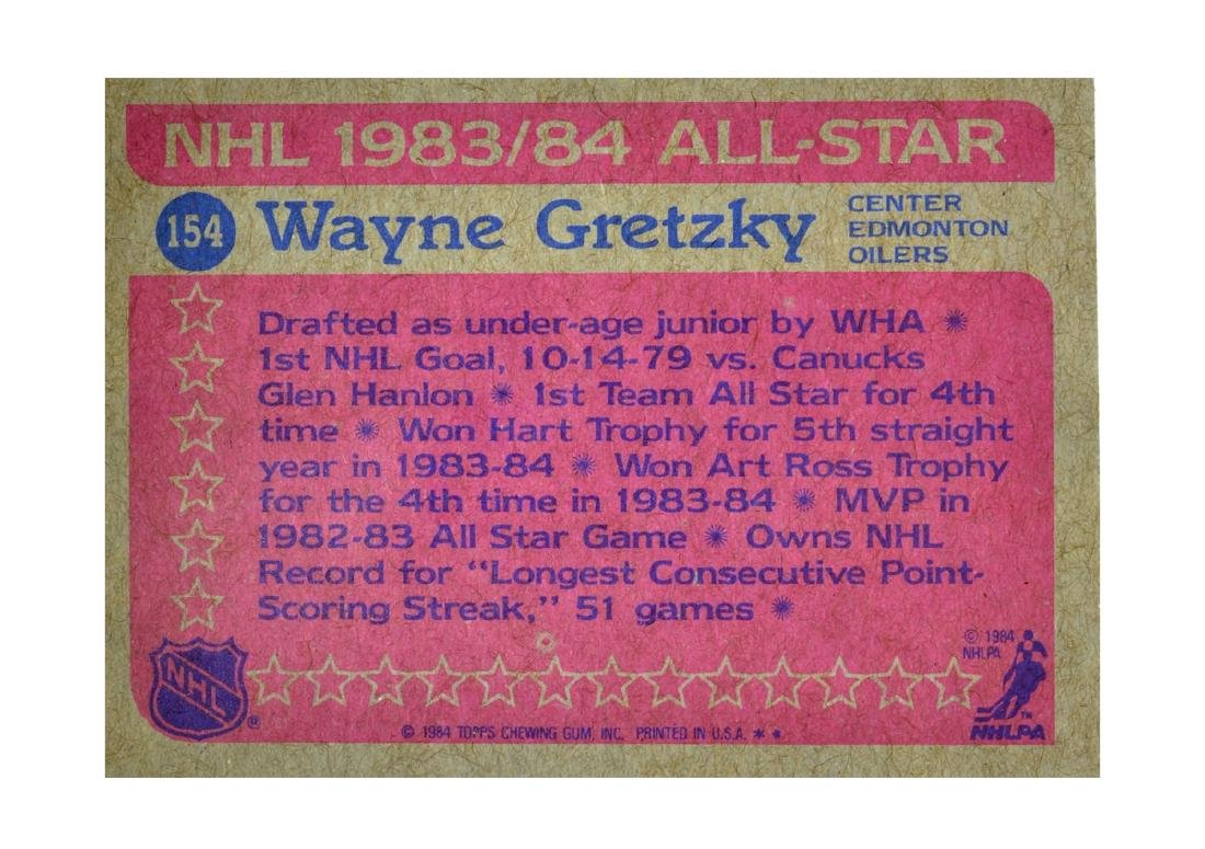 Extremely Rare NHL 1984 All-Star Wayne Gretzky Card - 2