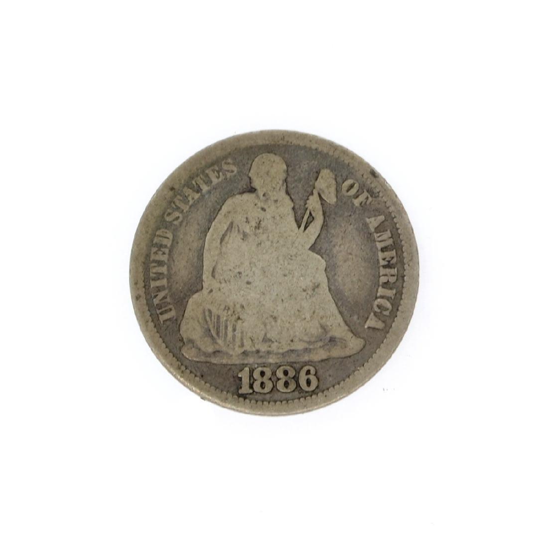 Rare 1886 Liberty Seated Dime Coin