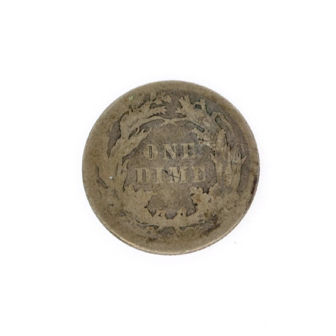 Rare 1886 Liberty Seated Dime Coin - 2