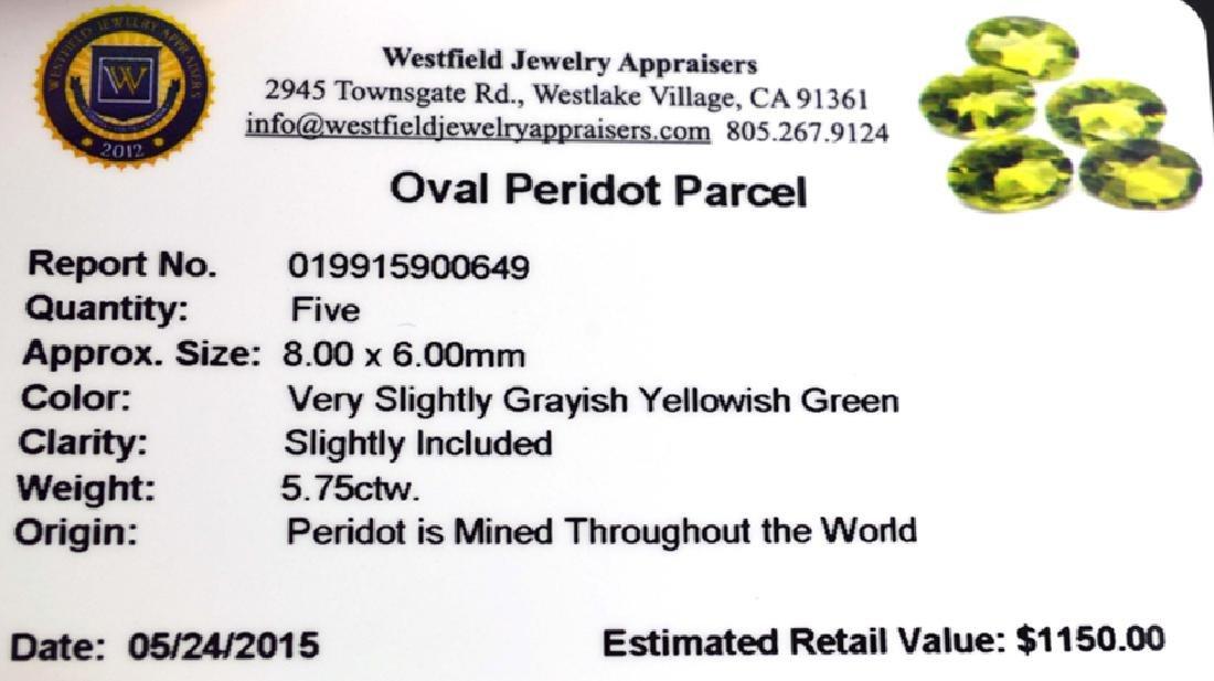 APP: 1.2k 5.75CT Oval Cut Green Peridot Parcel - 2