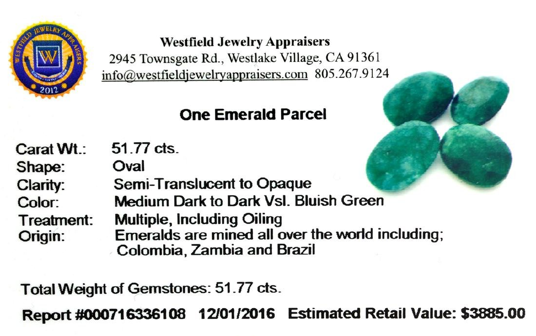 APP: 3.9k 51.77CT Green Emerald Parcel - 2