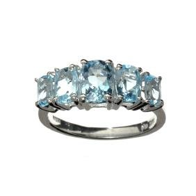 APP: 0.8k 2.07CT Oval Cut Blue Topaz And Platinum Over