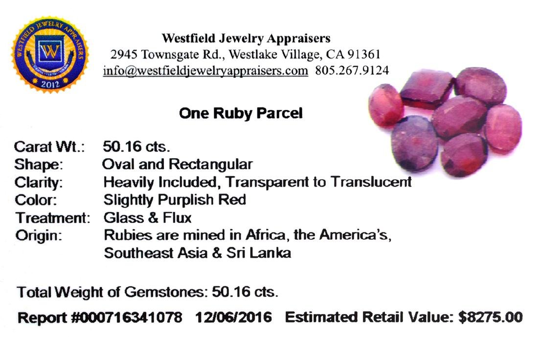 APP: 8.3k 50.16CT Ruby Parcel - 2