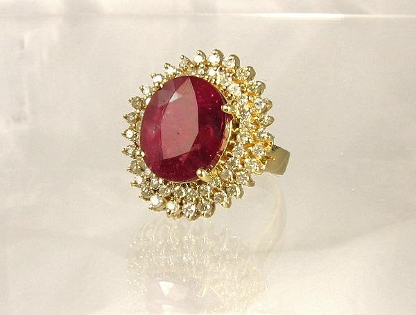 2004: APP.: $82.1K, 9.80CT Ruby and 1.18CT Diamond Ring