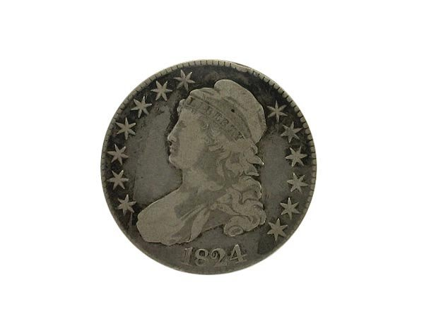 2016: GOV: 1824 Busted Half Dollar Coin, COLLECTABLE!!