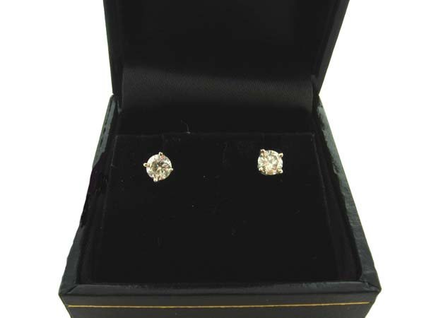 2021: 14 kt. Gold, 0.45CT Diamond Earrings, INVESTORS L