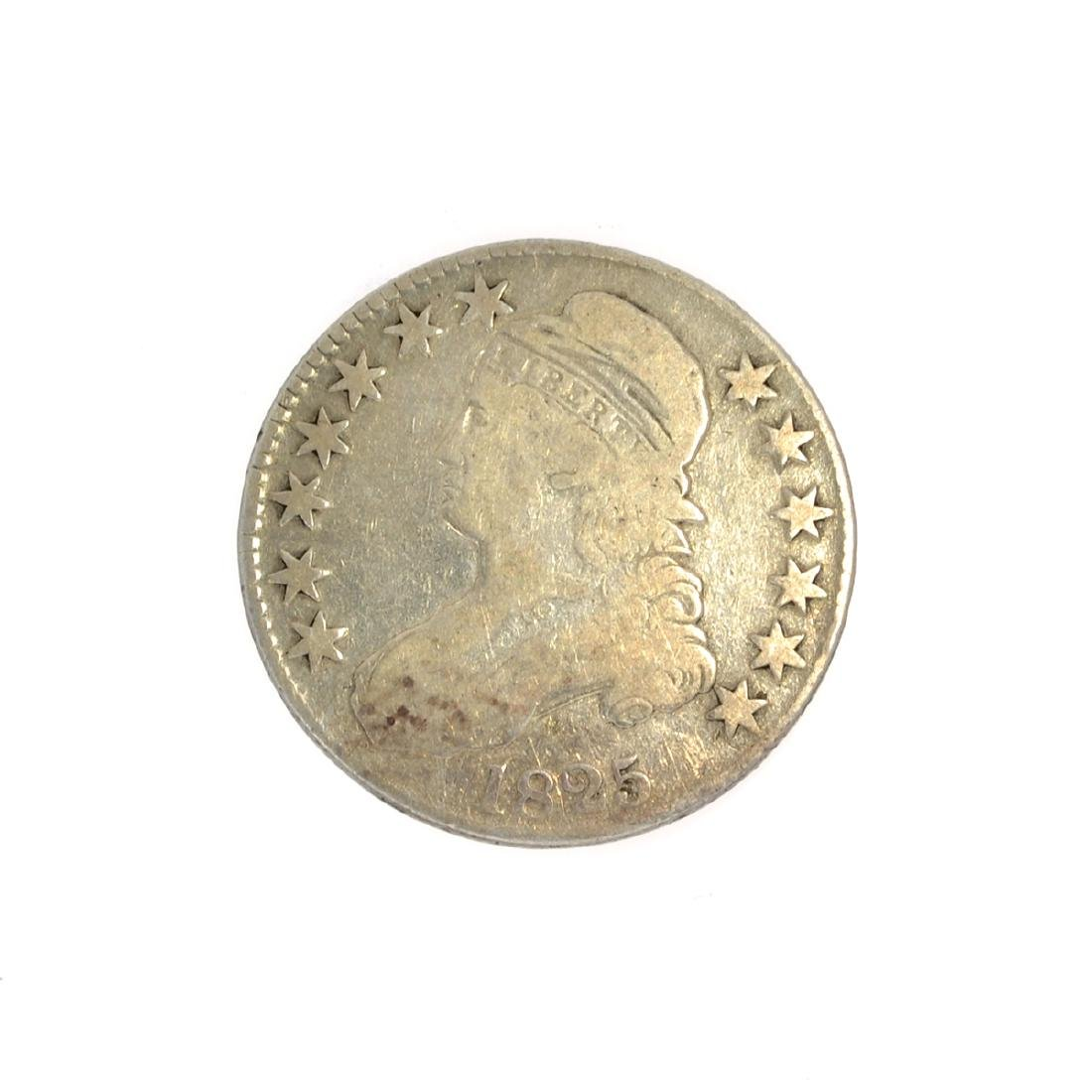 Rare 1825 Capped Bust Half Dollar Coin